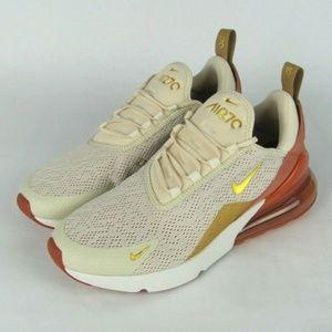 NIKE Air Max 270 Light Cream Athletic Shoes 8.5